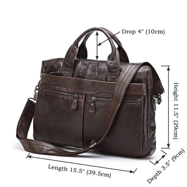 80eb56117790 Классическая коричневая кожаная мужская сумка (арт. 7122C) купить в ...