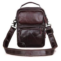Кожаная сумка через плечо 1010С
