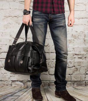 подарок мужчине на новый год - кожаная сумка