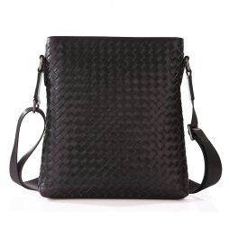 Handmade-Hot-Selling-Woven-Pattern-Black-Leather