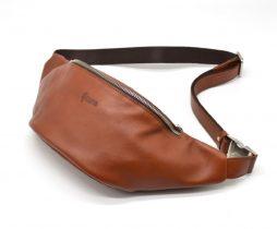 Стильная сумка на пояс бренда TARWA GB-3036-4lx в рыжевато-коричневом цвете - фото сумки 2