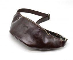 Брендовая напоясная сумка TARWA GX-3036-4lx из натуральной глянцевой кожи - фото сумки 2
