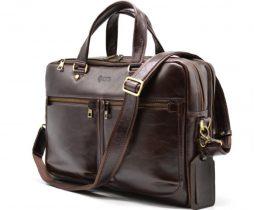 Мужская кожаная сумка для ноутбука и документов TX-4664-4lx TARWA - фото сумки 2