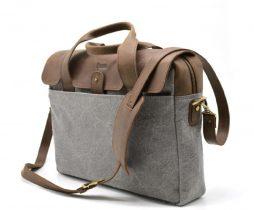 Повседневная сумка в комбинации кожи и ткани RC-1812-4lx от TARWA - фото сумки 2