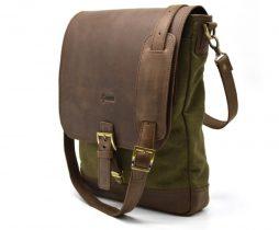 """комбинация кожи и парусины """"Canvas"""" RH-1808-4lx бренда Tarwa - фото сумки 1"""