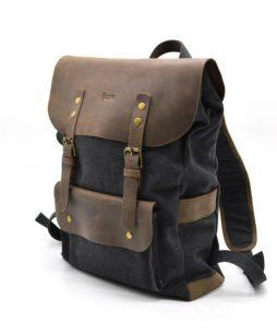 Рюкзак унисекс парусина+кожа RG-9001-4lx бренда TARWA - фото сумки 2