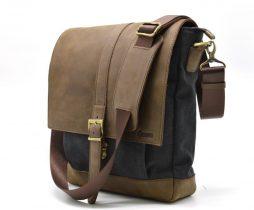 Мужская сумка через плечо парусина+кожа RG-1811-4lx TARWA - фото сумки 2