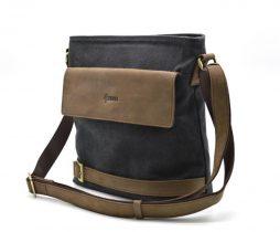 Мужская сумка парусина+кожа RG-0040-4lx бренда Tarwa - фото сумки 2