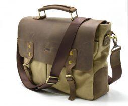 Мужская сумка из парусины  с кожаными вставками RC-3960-4lx бренда TARWA - фото сумки 2