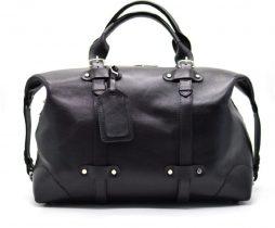 Кожаная черная дорожная сумка ТА-5764-4lx TARWA - фото сумки 2