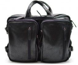 Мужская кожаная сумка-рюкзак GA-7014-3md TARWA - фото сумки 2