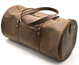 Дорожная cумка-бочонок из натуральной кожи RC-5564-4lx TARWA - фото сумки 2