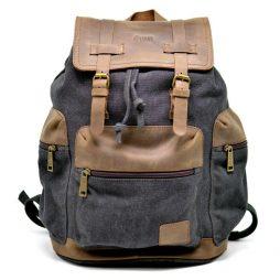 TARWA 0010 - городской рюкзак из лошадиной кожи и парусины - фото сумки 2