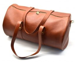 Дорожная cумка-бочонок из натуральной кожи TB-5564-4lx TARWA - фото сумки 2