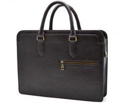 Кожаный деловой портфель TC-4864-4lx TARWA коричневый - фото сумки 2