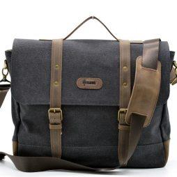 Мужская сумка-портфель из парусины  с кожаными вставками RG-0001-4lx бренда TARWA - фото сумки 2
