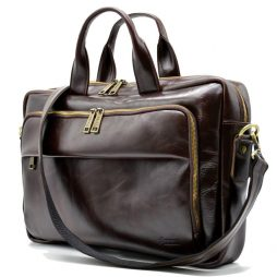 Сумка  делового мужчины из натуральной кожи GХ-7334-3md бренда TARWA - фото сумки 2