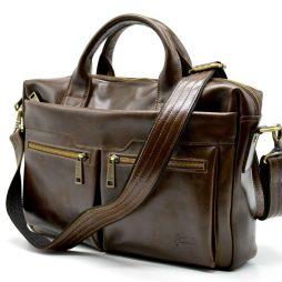 Кожаная мужская сумка для ноутбука GQ-7122-3md TARWA - фото сумки 2