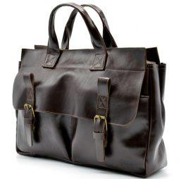 Мужская кожаная сумка для документов GX-7107-3md TARWA - фото сумки 2