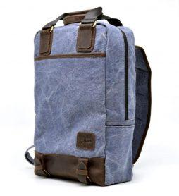 Молодежный рюкзак парусина + кожа RK-1210-4lx TARWA - фото сумки 2