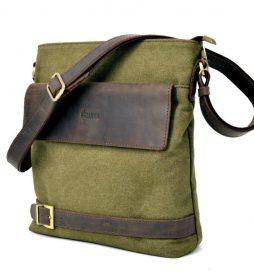 Мужская сумка парусина+кожа RH-0040-4lx Tarwa - фото сумки 2