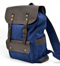 Рюкзак унисекс парусина+кожа RK-9001-4lx бренда TARWA - фото сумки 2