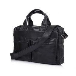 """Сумка из кожи """"чероки"""" для ноутбука черная TARWA GA-7122-3md - фото сумки 2"""