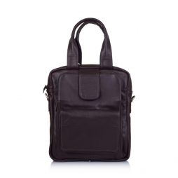 Кожаная вертикальная мужская сумка трансформер GC-7266-1md TARWA - фото сумки 2