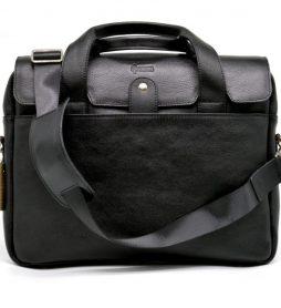 Крутая кожаная деловая сумка-портфель для ноутбука TA-1812-4lx от TARWA - фото сумки 2