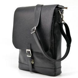 Вертикальная мужская кожаная сумка через плечо GA-1808-4lx бренда Tarwa - фото сумки 2