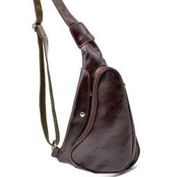Трендовый рюкзак из натуральной кожи на одно плечо  GX-3026-4lx бренд TARWA - фото сумки 2