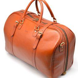 Большая яркая дорожная сумка из телячьей кожи TB-1133-4lx TARWA - фото сумки 2