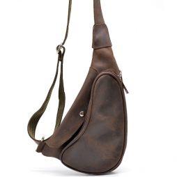 Кожаный рюкзак на одно плечо из лошадиной кожи RC-3026-3md бренд Tarwa - фото сумки 2
