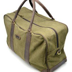 Дорожная сумка из ткани канвас с элементами натуральной кожи RH-6827-4lx бренда TARWA - фото сумки 2