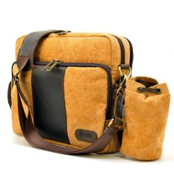 Сумка из парусины с кожаными элементами RY-1092-4lx TARWA - фото сумки 2