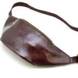 Женская напоясная сумка из натуральной кожи GM-3036-4lx бренда TARWA марсала - фото сумки 2
