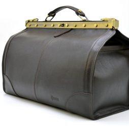 Саквояж из телячьей кожи темно-коричневый бренд TARWA TС-1221-4lx - фото сумки 2