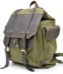 Городской рюкзак Урбан в комбинации ткань+кожа  TARWA RН-6680-4lx - фото сумки 2