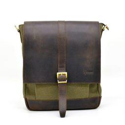 Сумка мужская парусина+кожа RH-1811-4lx от бренда Tarwa - фото сумки 2
