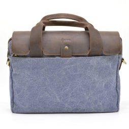 Сумка для ноутбука микс парусина и кожа RK-1812-4lx от TARWA - фото сумки 2