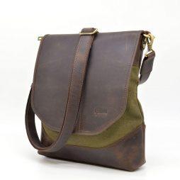 Мужская сумка через плечо из кожи и канвас RH-18072-4lx TARWA - фото сумки 2
