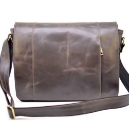 Большая мужская сумка-почтальон из натуральной кожи GС-7338-3md бренда TARWA - фото сумки 6