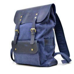 Рюкзак унисекс микс ткани канваc и кожи KK-9001-4lx TARWA - фото сумки 2