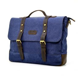 Мужская сумка-портфель из парусины и кожи RK-0001-4lx TARWA - фото сумки 2