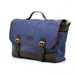 Портфель мужской из ткани канваc с кожаными вставками RK-7880-4lx TARWA - фото сумки 2