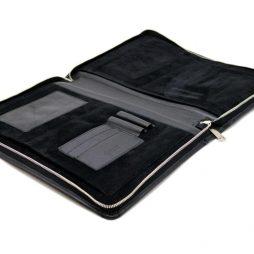 Кожаная папка для документов формата А4 GA-1287-1md TARWA черная - фото сумки 2
