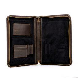 Папка для документов формата A5 и А4 TC-1287-1md TARWA коричневая - фото сумки 2