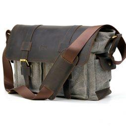 Мужская сумка микс ткани канваз и кожи RG-6690-4lx TARWA - фото сумки 2