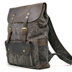 Молодежный рюкзак микс парусины и кожи RGj-9001-4lx TARWA - фото сумки 2