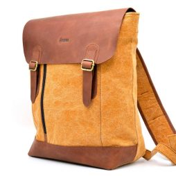 Городской рюкзак микс ткани канваc и кожи RY-3880-4lx TARWA - фото сумки 2